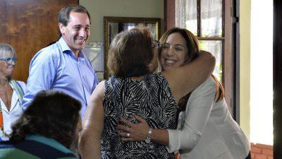 Vidal y Garro visitaron a una familia que sufrió la trágica inundación del 2013