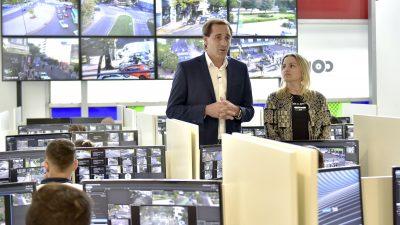 Garro y Piparo presentaron 680 nuevas cámaras de seguridad HD con detección de rostros y patentes