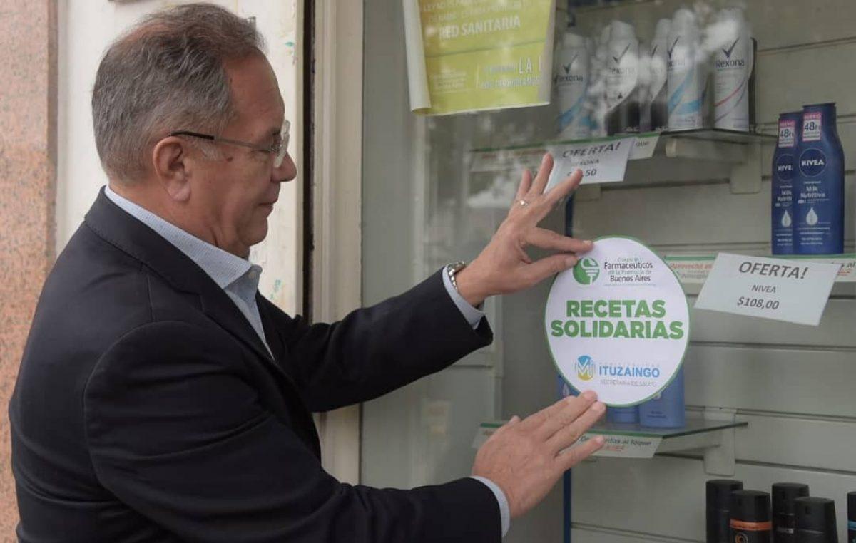 "Ituzaingó / Descalzó lanzó ""recetas solidarias"" con descuentos en medicamentos para vecinos sin obra social"