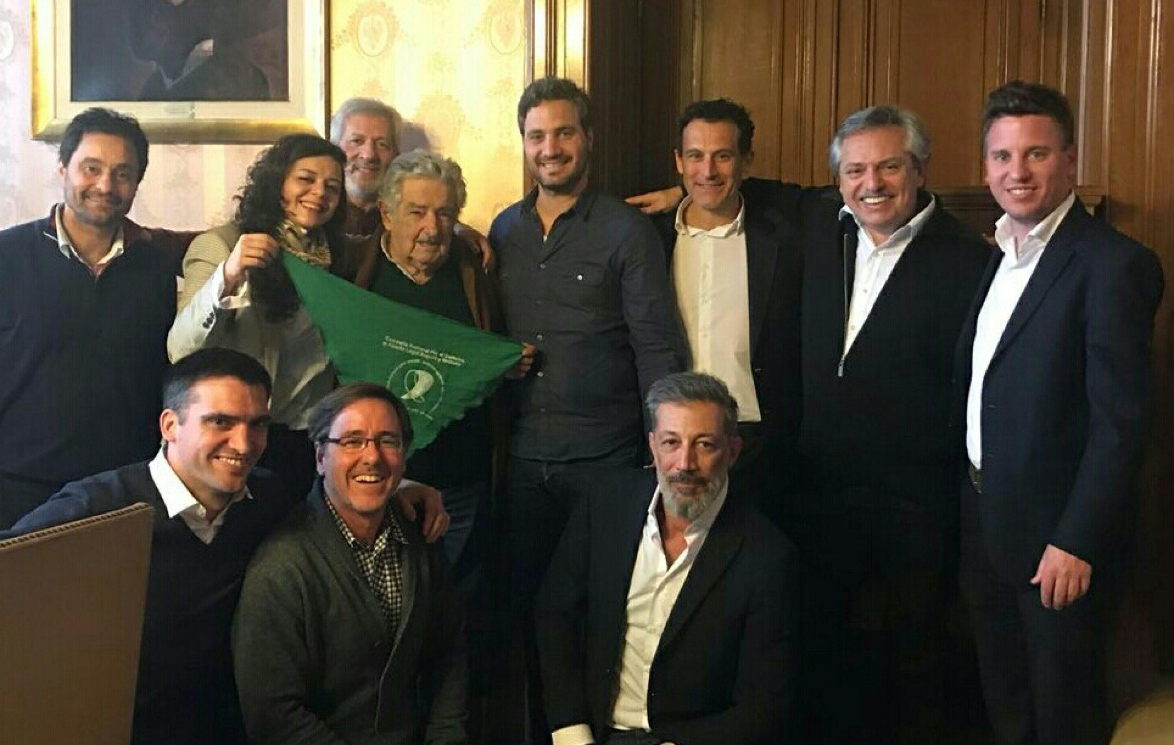 Parte del Grupo Callao junto a José Mujica en Uruguay
