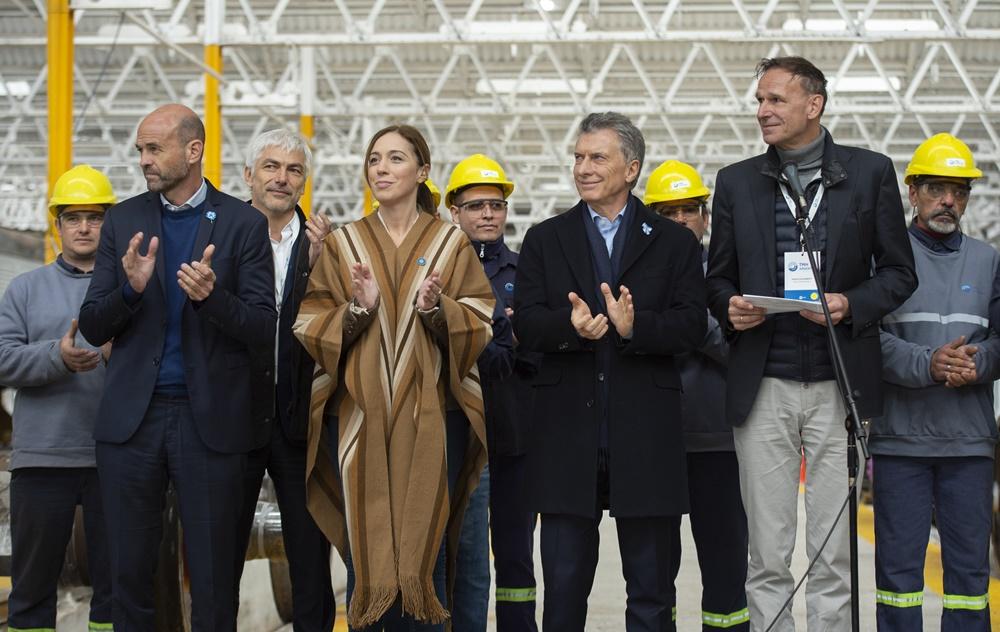 """""""Es fácil comprar vagones, pero hay que hacer las vías"""", dijo Vidal en los talleres de Mechita"""