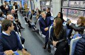 Macri, Vidal y Larreta se tomaron el tren para inaugurar el Viaducto del Ferrocarril Mitre