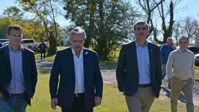 Durañona y unos cuarentena intendentes recibieron a Fernández en San Antonio de Areco
