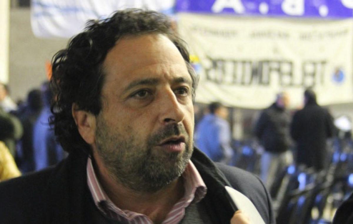 Federico Bach, secertario general  seccional La Plata, de La Bancaria el gremio del Banco Provincia.