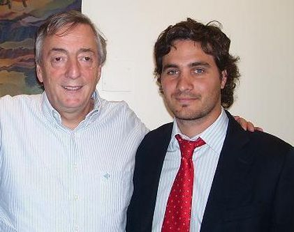 Santiago Cafiero junto a Néstor Kirchner