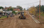 Monte Hermoso / avanzan la construcción de desagües pluviales en Barrio FONAVI
