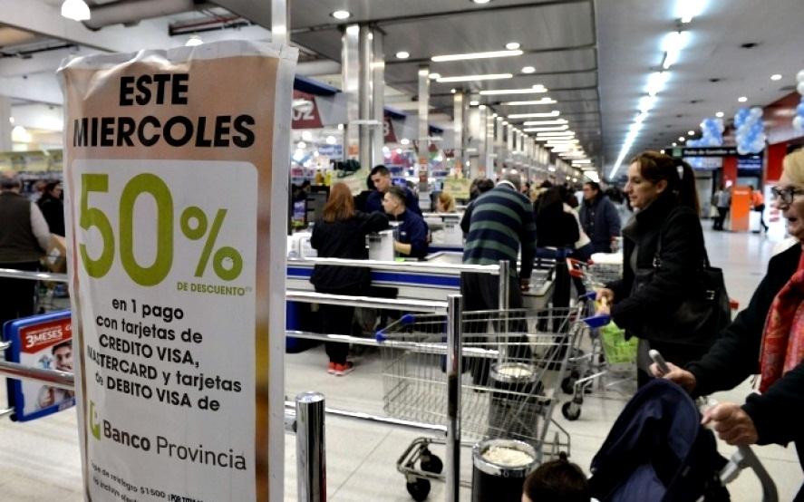 En mayo, la promoción del Banco Provincia en supermercados será los miércoles 15 y 22