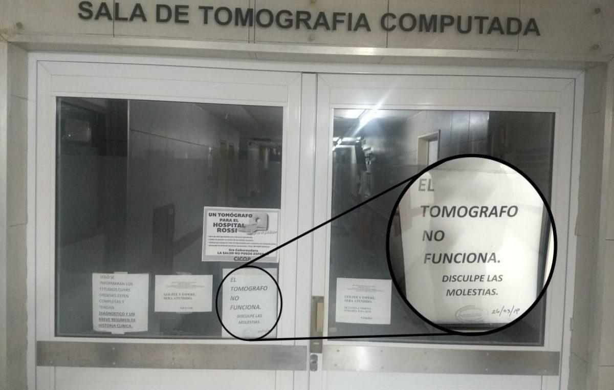 Ahora es el tomógrafo del Hospital General San Martín el que no funciona