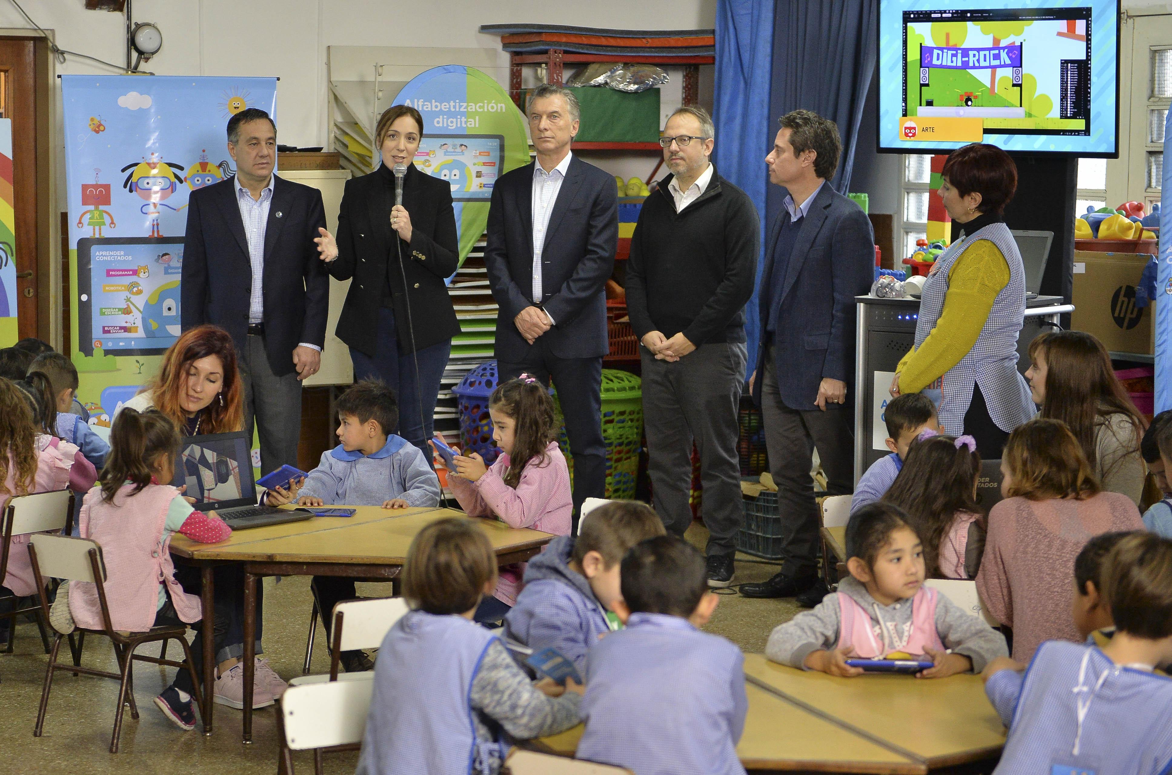 Vidal y Macri anuncionaron el Plan Aprender Conectados