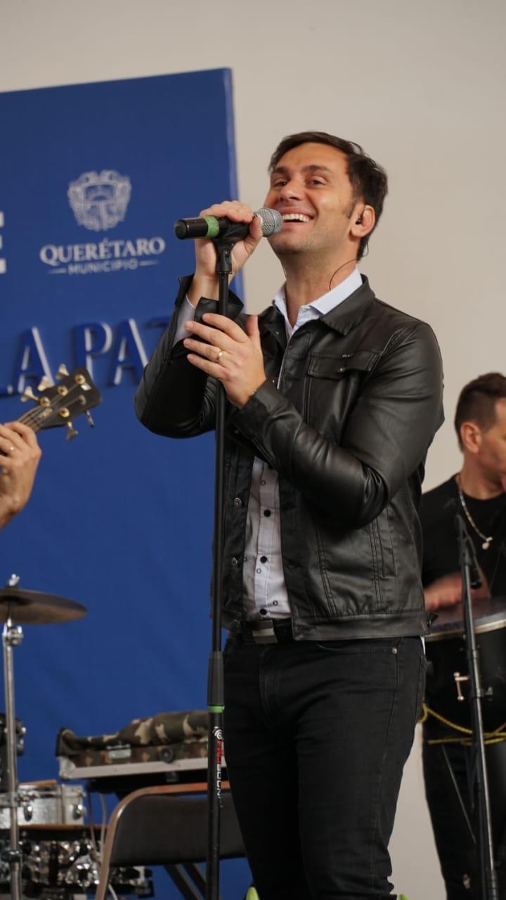 Odino Faccia, en un recital en Querétaro México