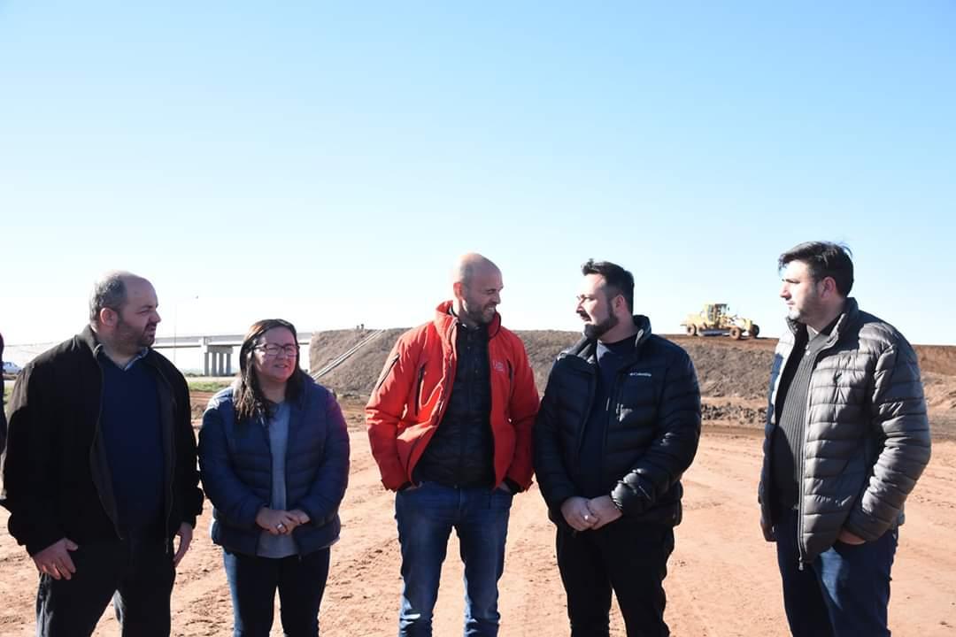 Chacabuco: Aíola junto Dietrich recorrieron las obras en la Ruta Nacional Nº7