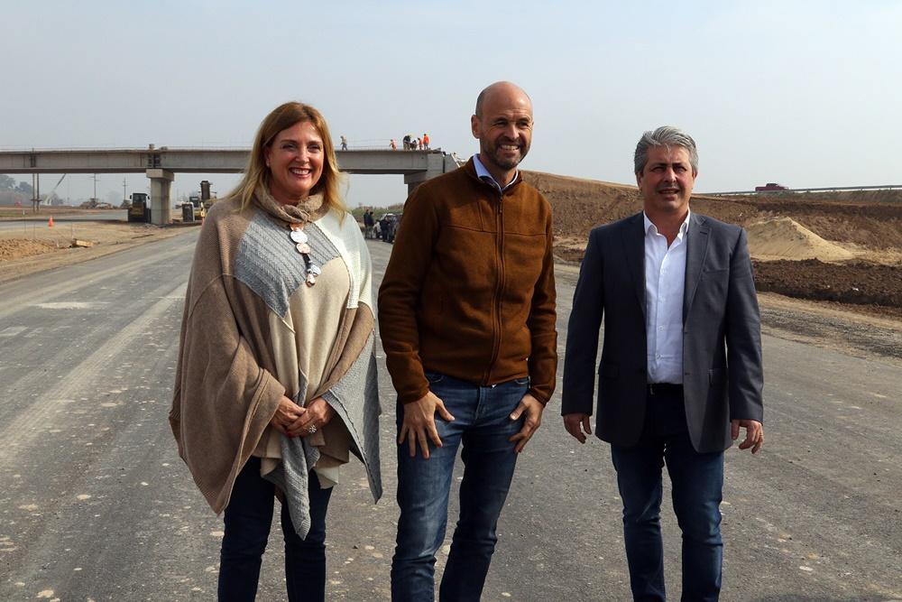 Avanza la Autopista Pilar – Pergamino: Dietrich y Martínez recorrieron la obra