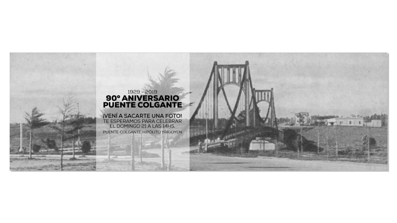 El puente colgante que une Necochea y Quequén cumple 90 años