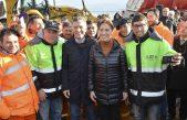 Macri y Vidal recorrieron el inicio de obra en la Ruta Nacional Nº3 entre San Miguel del Monte y Las Flores
