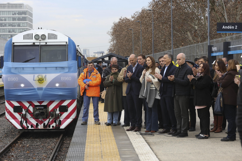 Vidal con Macri y Larreta inauguraron el viaducto San Martín