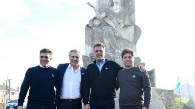Necochea / En un día histórico, López lanzó su campaña con Alberto Fernández, Sergio Massa y Axel Kicillof