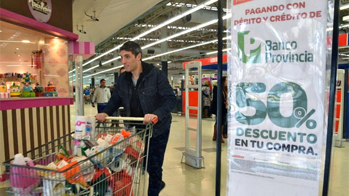 En julio, la promoción del Banco Provincia en supermercados se aplicará los miércoles 17 y 24