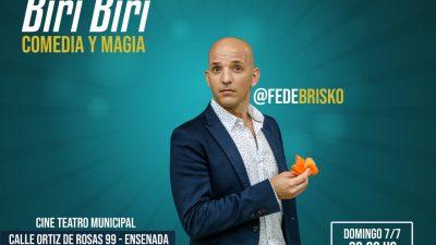 """El reconocido mago y comediante, Fede Brisko llega a Ensenada con mucho """"Biri Biri"""""""