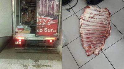 Bahía Blanca / se choreó un costillar de un camión y salió corriendo pero lo agarró la policía