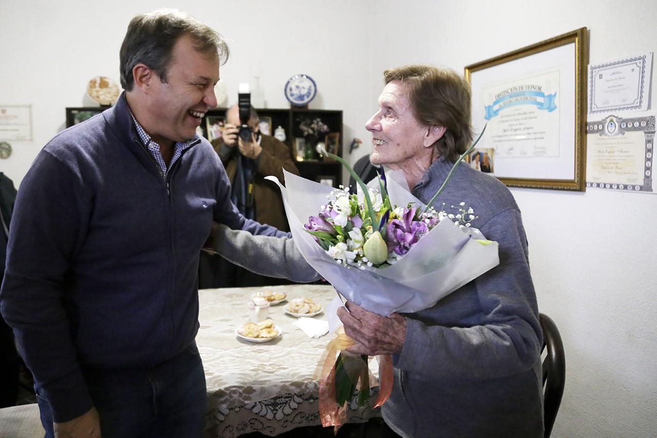 Cascallares homenajeó a la enfermera que acompañó a Eva Perón hasta su muerte