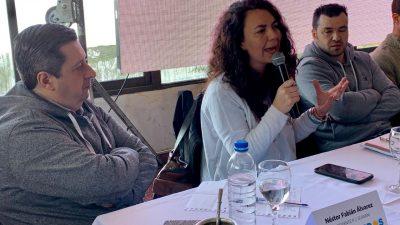 Merquel y Álvarez apoyaron al candidato del Frente de Todos en Guaminí José Nobre Ferreira