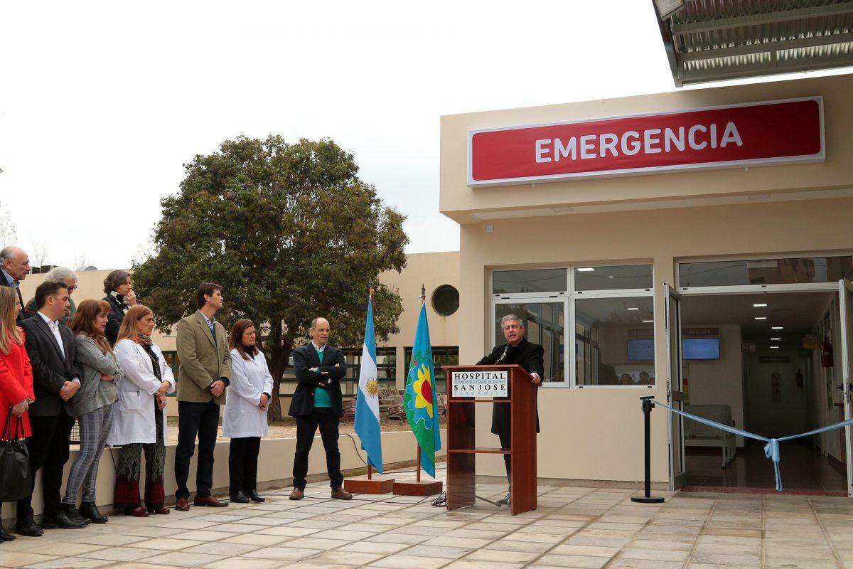 Javier Martínez inauguró la nueva guardia del Hospital de Pergamino