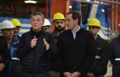 La Plata / Macri, Vidal y Garro inauguraron los talleres ferroviarios del tren Roca en Tolosa