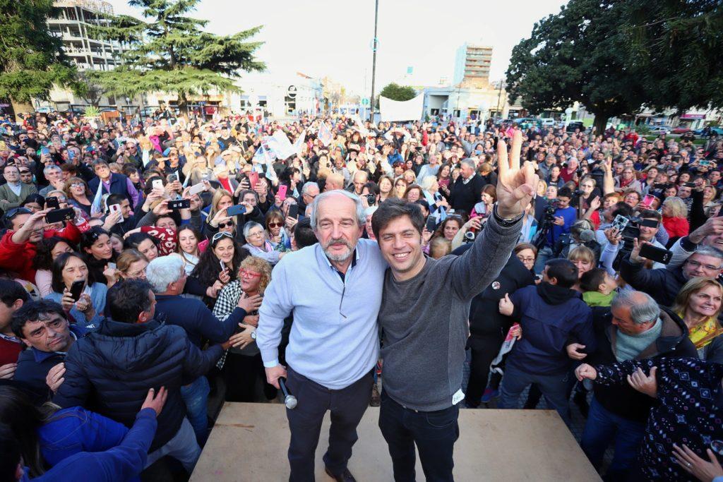Kicillof y el candidato a intendente de Chacabuco, Ricardo Ciminelli
