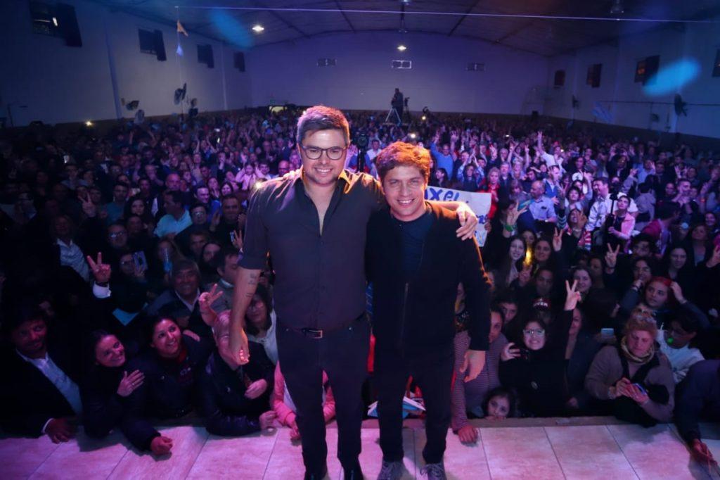 Martín Sotullo recibió el apoyo de Axel Kicillof en Trenque Lauquen