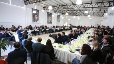 """Kicillof con candidatos a intendentes: """"No estamos para especulaciones electorales"""""""