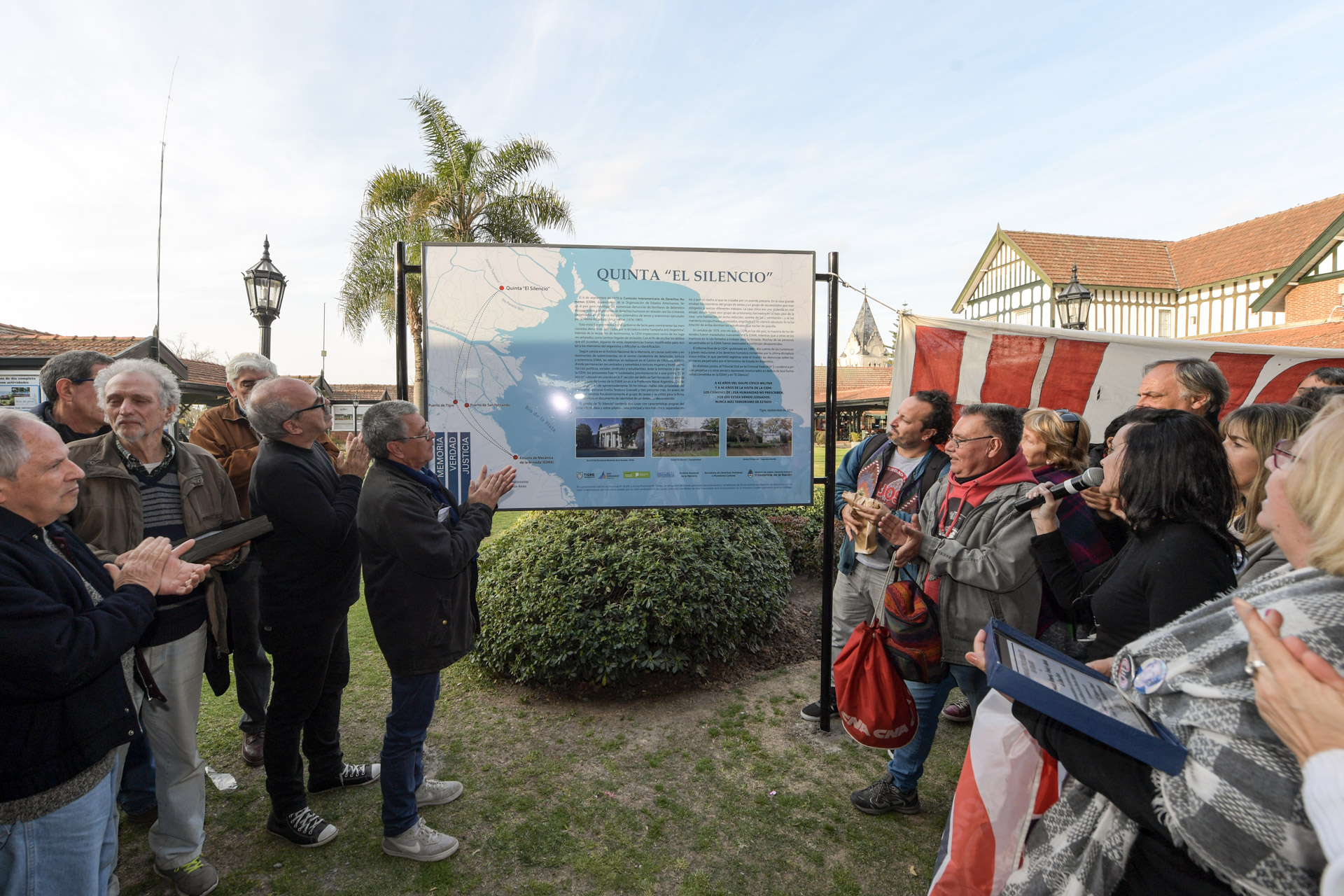San Fernando acompañó el señalamiento de la quinta ´El Silencio´ como ex Centro Clandestino de Detención