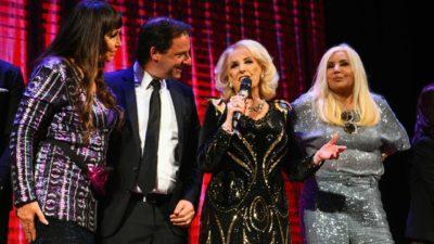 Mirtha, Susana y Moria estuvieron presentes en la inolvidable gala por los 130 años del Teatro Seminari-Cine Italia de Escobar