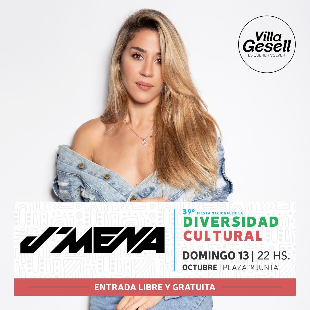 Jimena Barón, La Delio Valdez y Kapanga estarán en la 39ª Fiesta Nacional de la diversidad Cultural en Villa Gesell