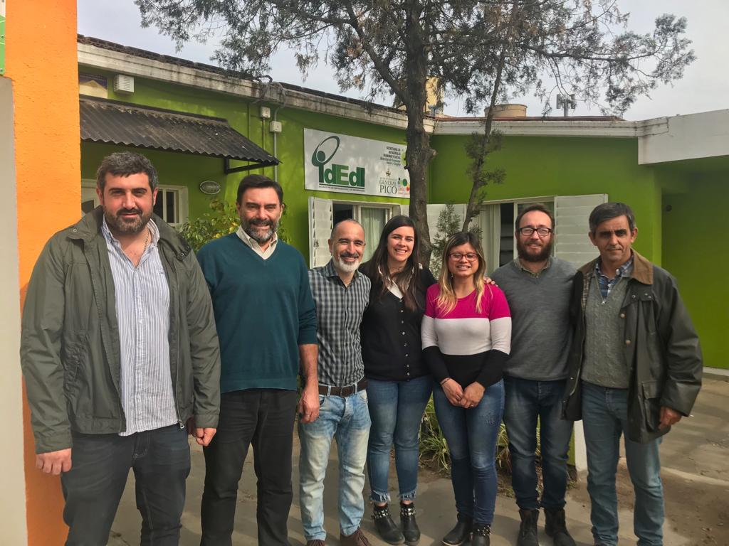 """El candidato a intendente de Rivadavia visitó una ciudad Pampeana """"observando para replicar"""" las buenas experiencias de gestión"""