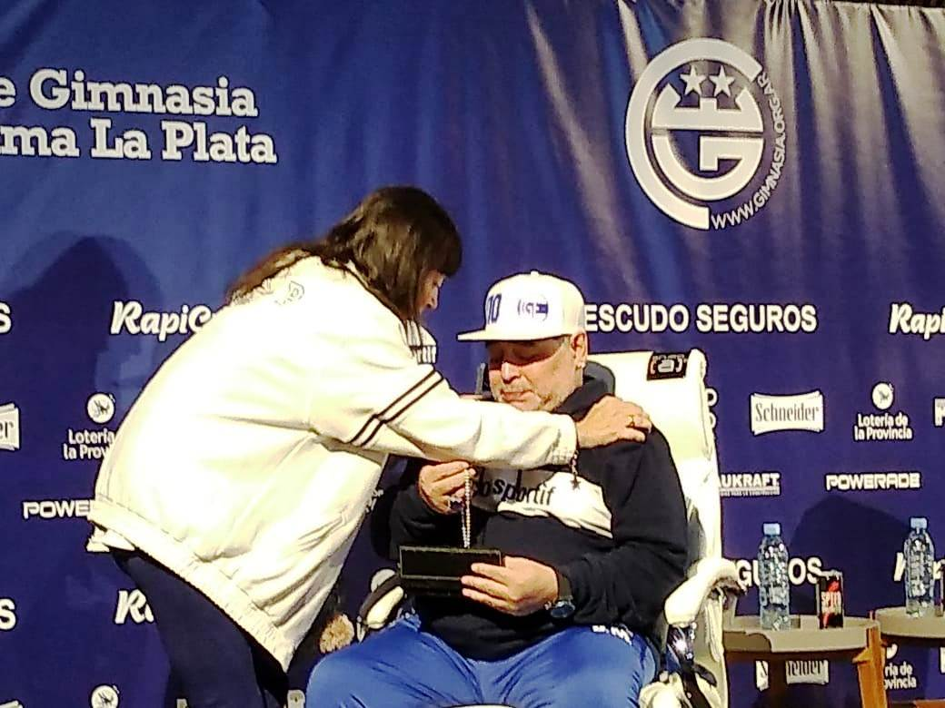 Diego y Giselle la hermana de Cristina Fernández de Kichner