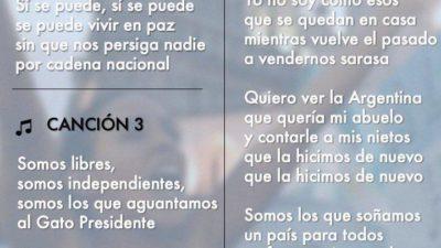 El cancionero del #SíSePuede: difunden una lista de cantos para las marchas macristas