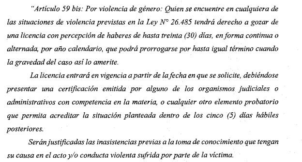 Ejemplar: La Suprema Corte Bonaerense reguló licencias para casos de Violencia de Género