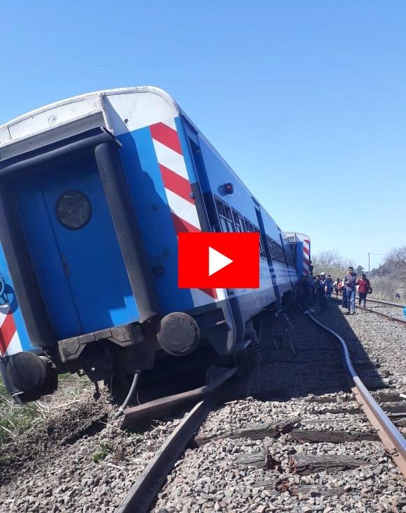 Otro más: descarriló un tren de pasajeros de la Línea Sarmiento en Mercedes