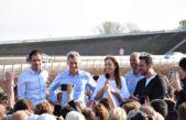 Macri y Vidal inauguraron 40 kilómetros de la autopista en la Ruta 7