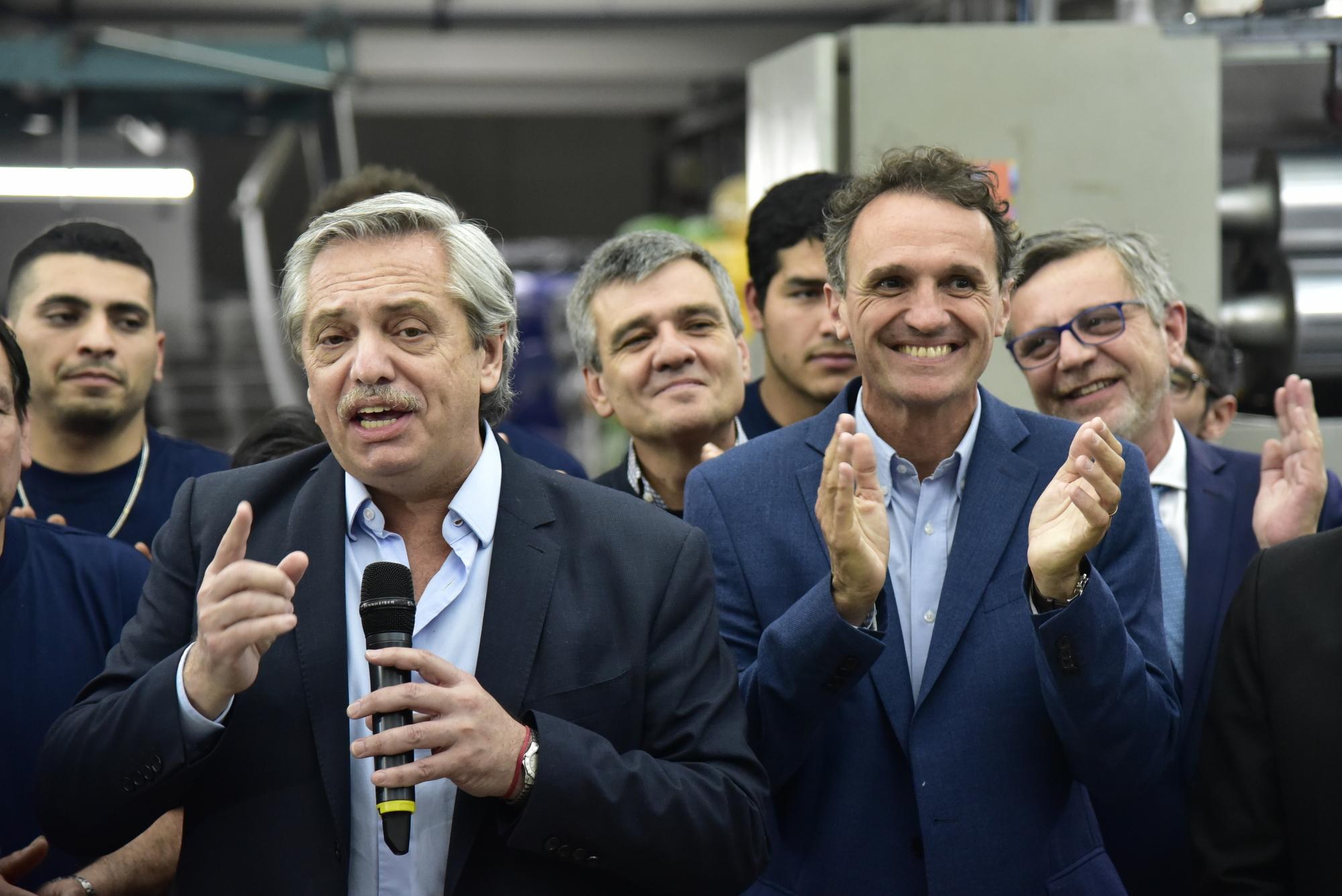 San Martín/ Con eje en la reactivación económica Alberto, Massa y Katopodis anunciaron la inversión en una empresa textil