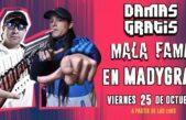 Damas Gratis y Mala Fama darán un show solidario en una fábrica recuperada de Garín