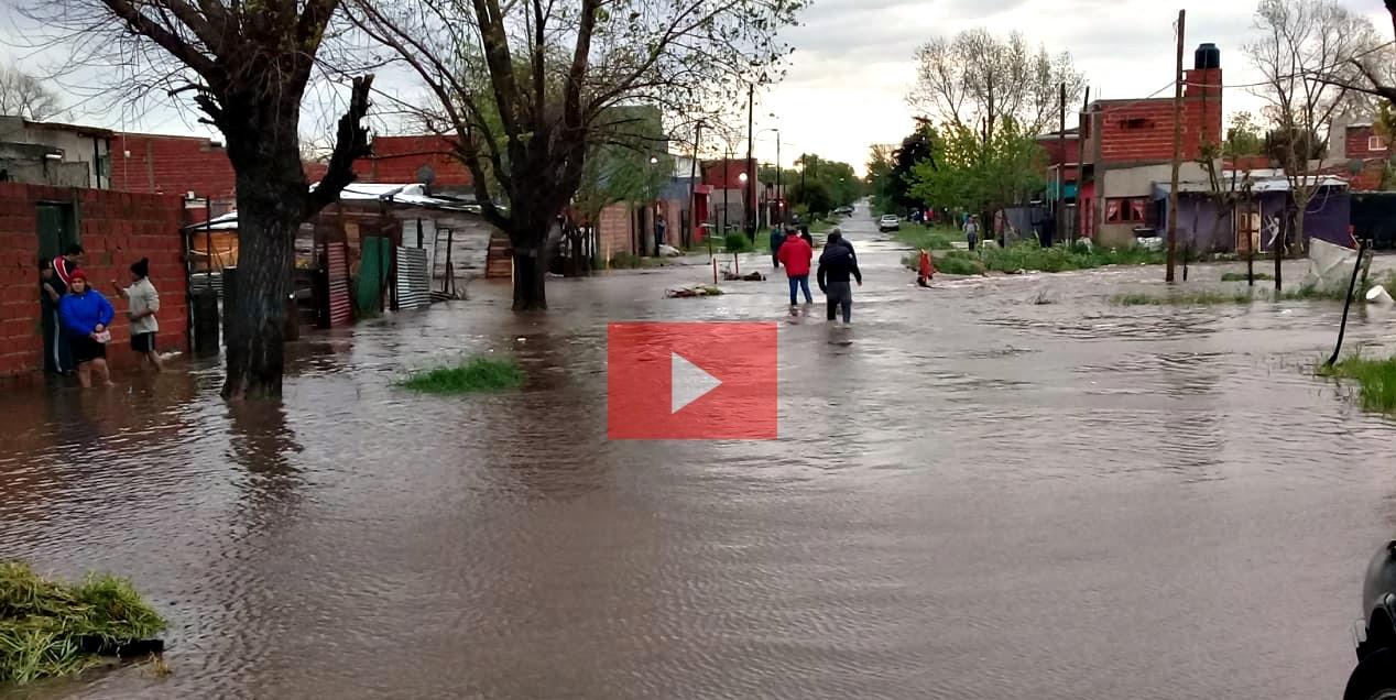 En La Plata hubo arroyos desbordados y barrios inundados por el temporal