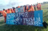 Tras la inauguración de Macri y Vidal en la Ruta Nº7, comenzaron los despidos y hoy 40 trabajadores tomaron el obrador de la Autopista