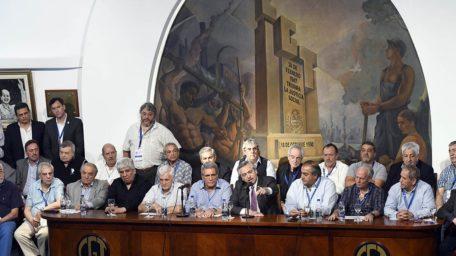"""Alberto Fernández en la CGT: """"el movimiento obrero va a ser parte del Gobierno"""""""