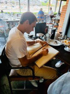 Roger Federer en Las Lilas Restaurante