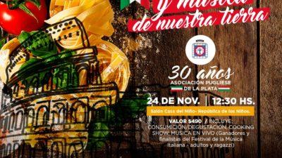 La Asociación Pugliese de La Plata festeja sus 30 años con la comunidad