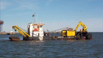 Se licitaron las obras de dragado en los puertos de Ingeniero White, Galván y Rosales