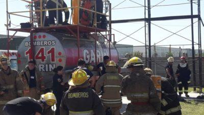 Bomberos de Chile, Uruguay , Brasil, Colombia y Argentina realizaron una capacitación internacional en Garín