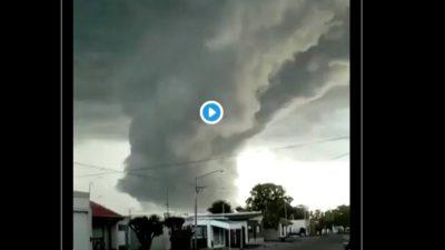 """Una """"nube pared"""", el fenómeno que sorprendió a todos en el centro de la Provincia"""