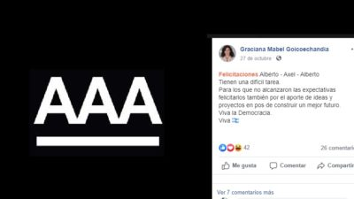 Polémica en Las Flores con una concejal que hizo un desubicado posteo ironizando con la Triple A